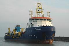 Ships boats and sea at Lowestoft Nov 17, 2011
