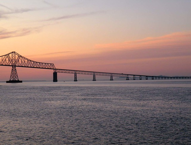 Astoria-Warrenton Bridge at Sunset
