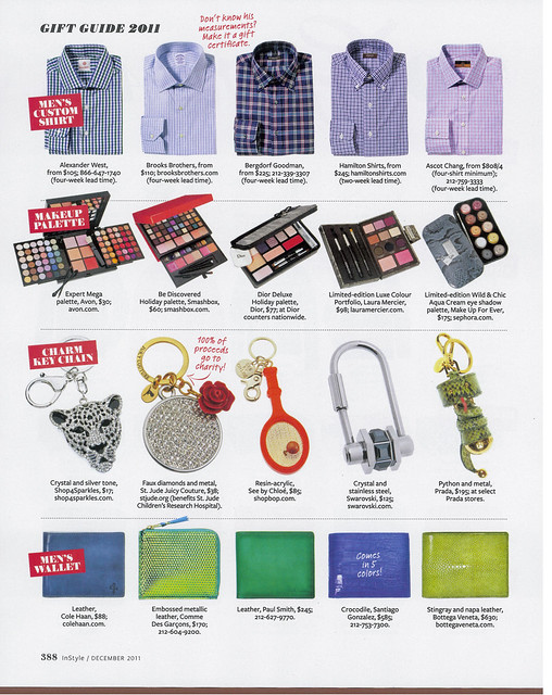 Gift Guide – InStyle December 2011