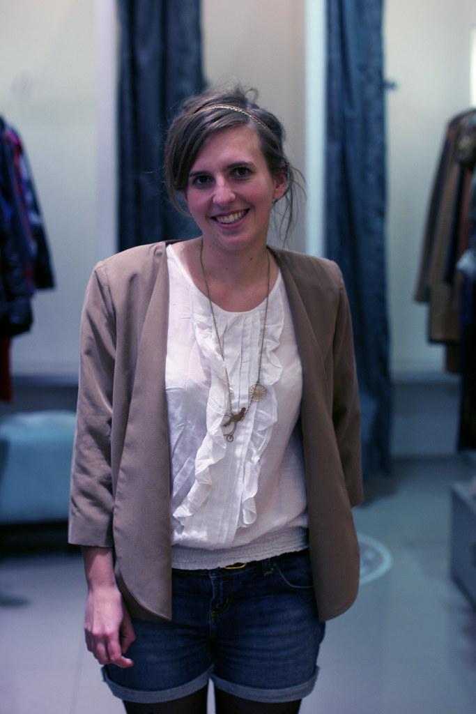 Scarlet Roos, notre lectrice avec la veste Chicago