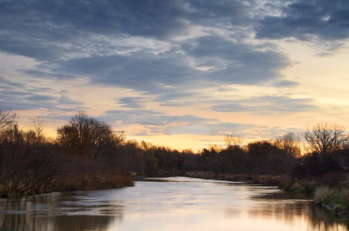 fall sunrise river dorchesterontario thamesriverontariocanada