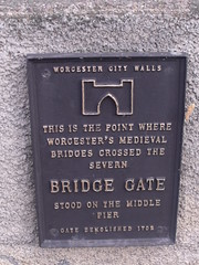 Photo of Bridge Gate, Worcester bronze plaque