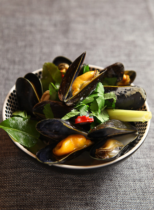 curry with mussels