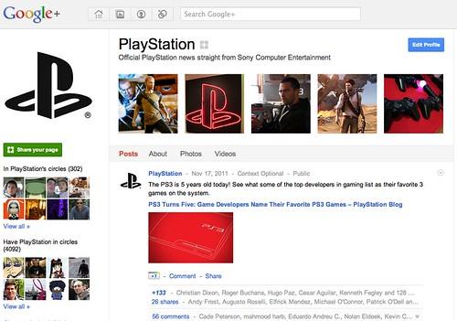 PlayStation on Google+