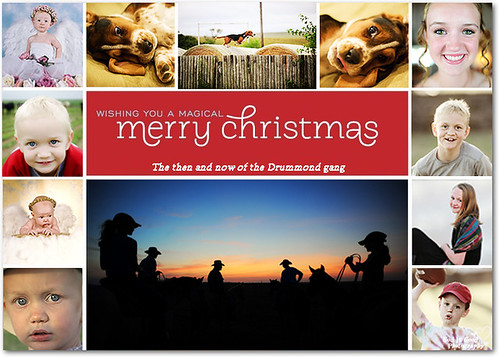 Christmas card from the Drummond gang