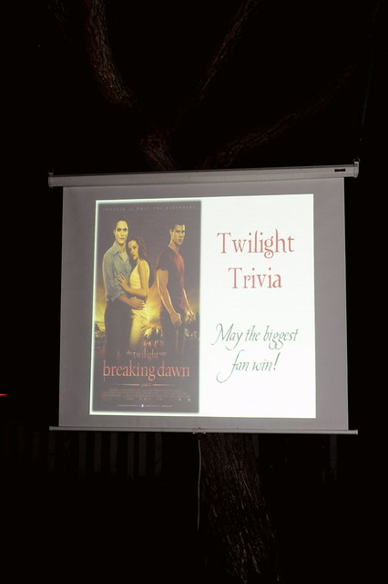 Breaking Dawn Trivia on Tree Screen