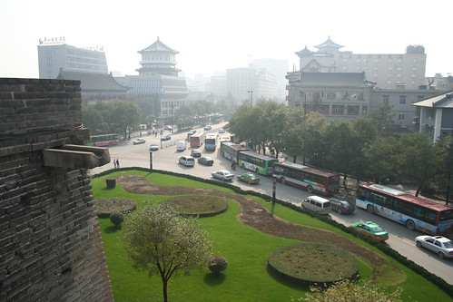 2011-11-18 - Xian - City wall - 37 - Ring wall - Northern outer intersection
