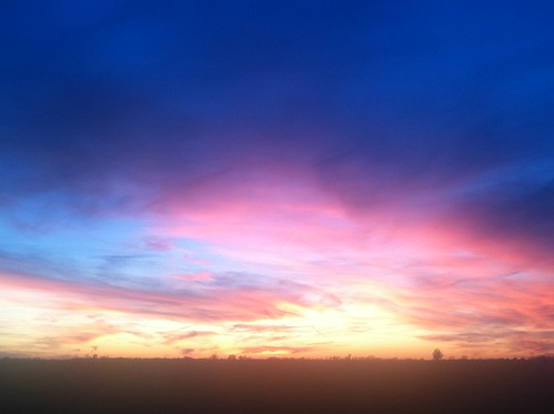 pink blue sunset illinois aviston
