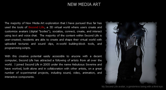 New Media art page update