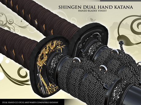 Shingen Dual Hand Samurai Katana, 990 lindens by Cherokeeh Asteria