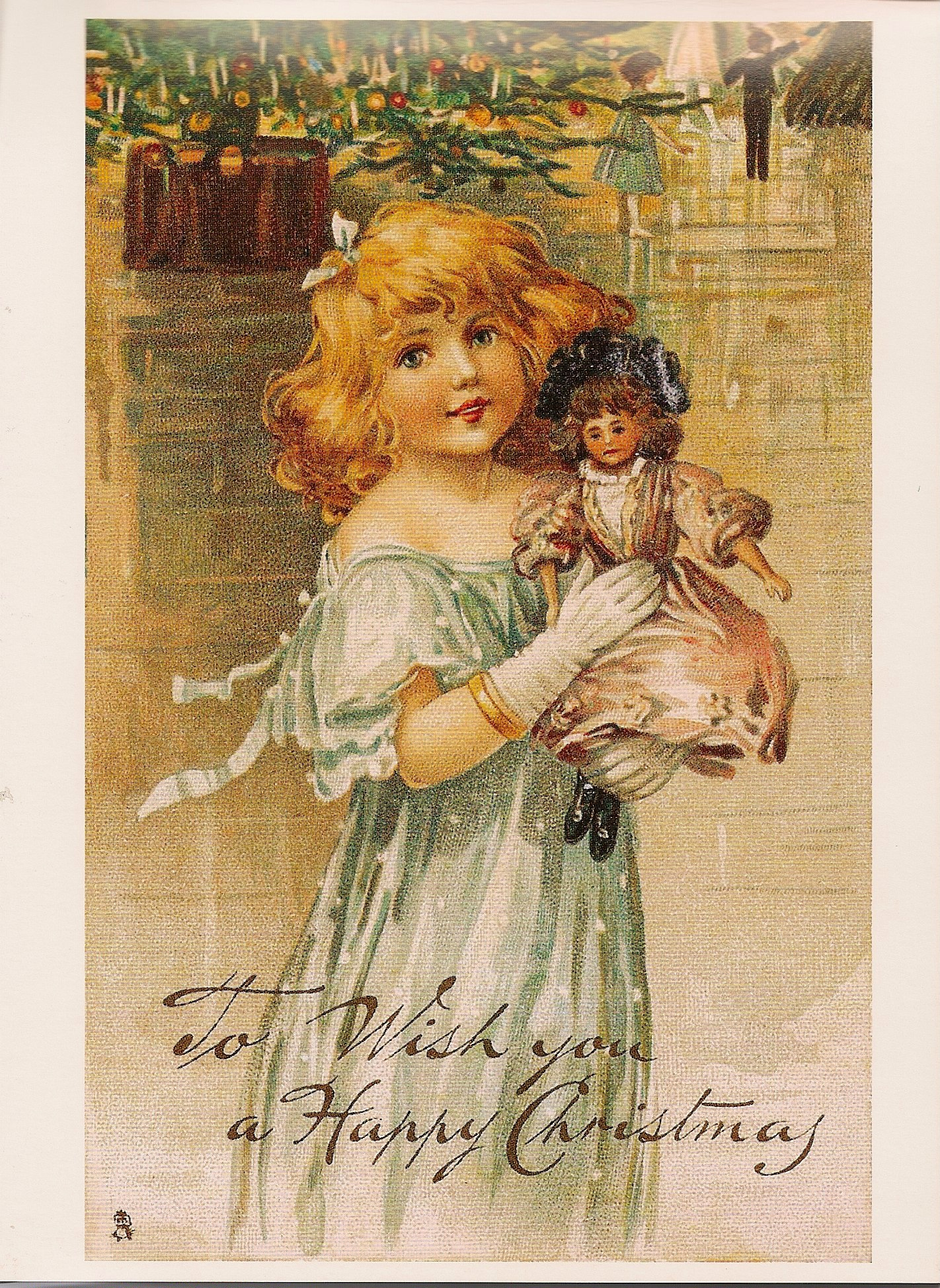 Reproduction Christmas Postcard