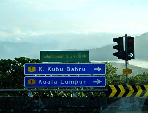 IMG_0808 To Kubu Bahru and Kuala Lumpur signboard