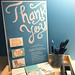 I illustrated and hand-lettered some Thank You cards for the office by tinamonstre