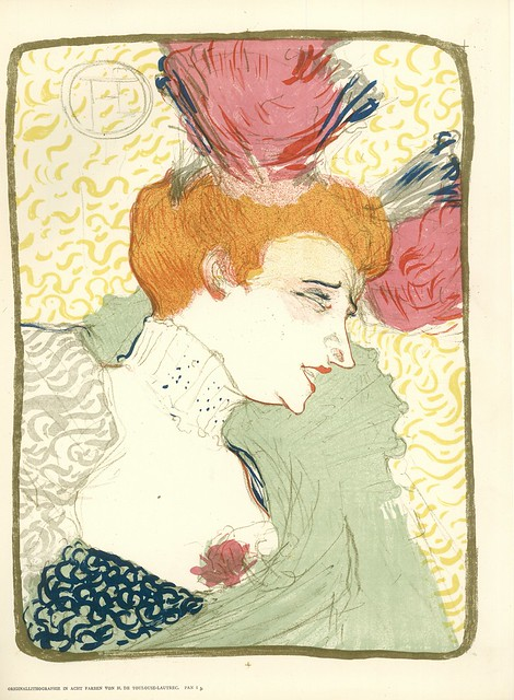 Henri de Toulouse-Lautrec.  Untitled.  Original Lithograph in 8 colors.  Berlin, 1895.  Pan. Vol. I, no. 3.
