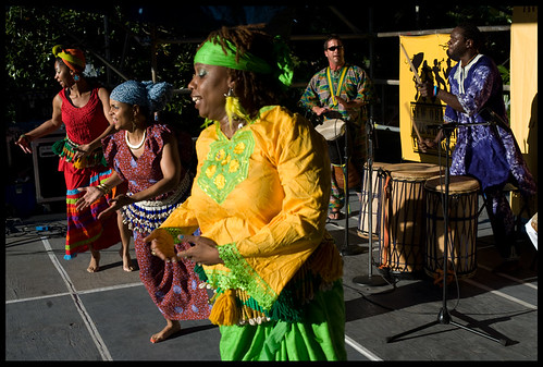 N'Fungola Sibo African Dance at Congo Square Music Festival. by Ryan Hodgson-Rigsbee