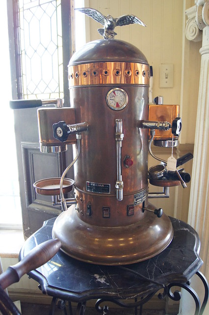 Antique coffee machine a gallery on flickr - Machine a cafe vintage ...