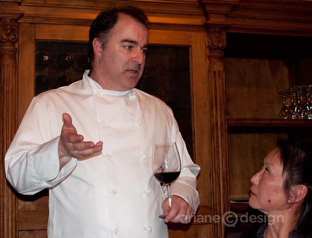 Chef Neil Wyles with diner Karen Dar Woon