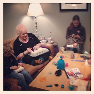 Needle felting with the people