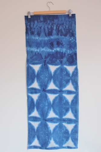 Shibori -  using gather stitch and triangle block