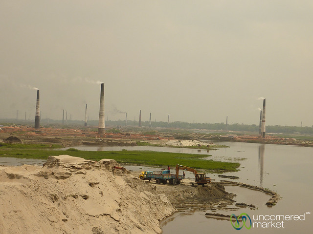 Brick Fields Outside of Dhaka, Bangladesh