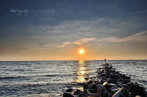 ocean sunset sea seascape sunrise landscape nikon maryland seacape sandypointstatepark d7000