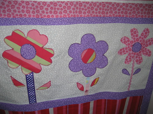 Flower Applique Detail - Liliana's Baby Quilt