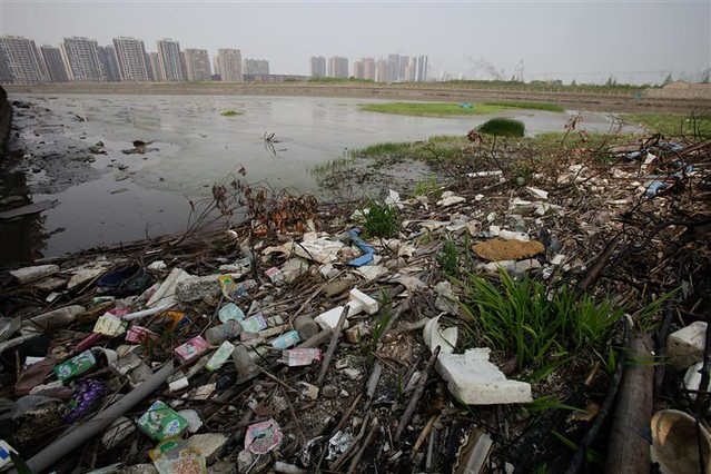 Toxic water pollution and textile manufacturing in china flickr