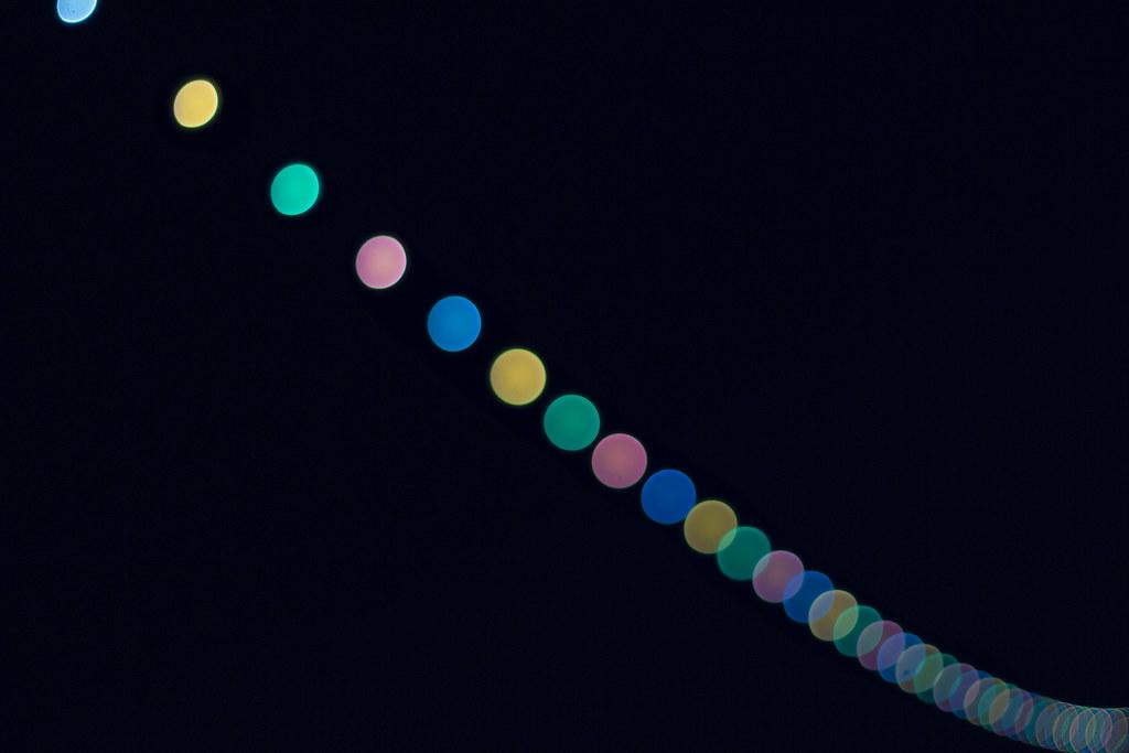 String Lights Bokeh : Bokeh lights String of street lights on the coast of Ports? Flickr - Photo Sharing!