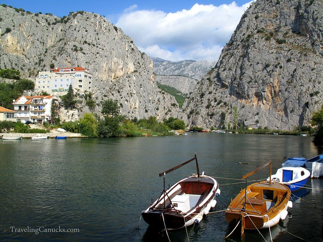 Town of Omis on the Croatian Coast