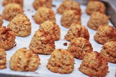 vegetable(0.0), coconut(0.0), fried food(0.0), meat(0.0), macaroon(0.0), chicken nugget(0.0), meal(1.0), breakfast(1.0), anzac biscuit(1.0), vegetarian food(1.0), baked goods(1.0), produce(1.0), food(1.0), dish(1.0), dessert(1.0), cuisine(1.0), snack food(1.0), fast food(1.0),