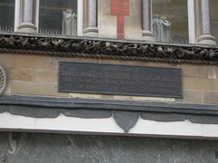 Photo of J. M. Barrie black plaque