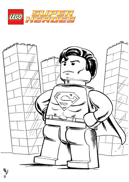 printable lego superman coloring pages - photo#5