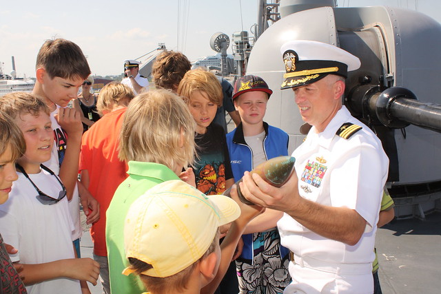 Rein Ottoson Sailing School Students on Board USS Carr, July 22, 2011
