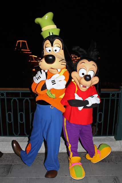 Meeting Goofy and Max