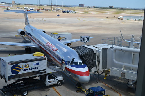 American Airlines MD-80 at Gate C10 in DFW