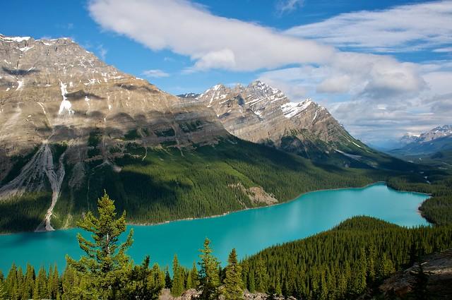 Lago Peyto, Parque Nacional Banff, Canadá, Montañas Rocosas
