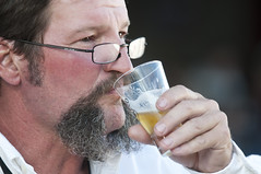 nose, glasses, drinking, face, facial hair, drink, person,