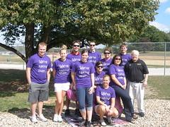 Campus Recreation Graduate Assistants group shot before walking