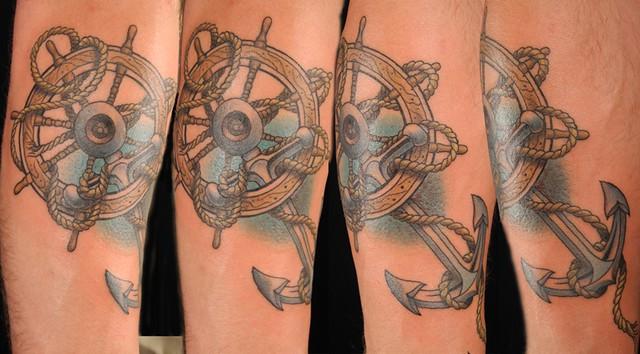 Anchor And Ship S Wheel Flickr Photo Sharing