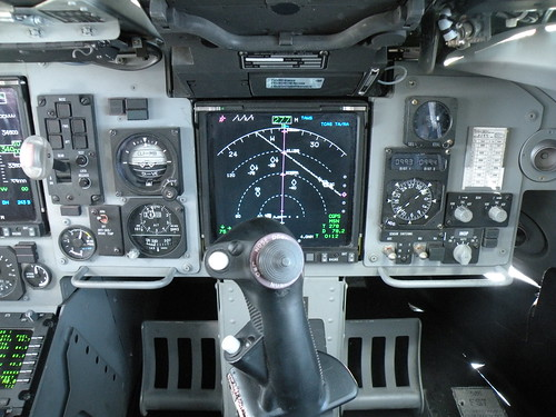 C-17 cockpit displays and controls, copilots control stick