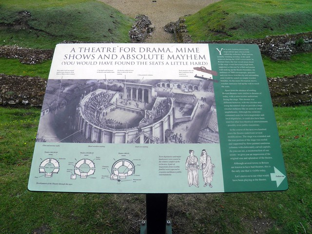 The Roman Theatre at Verulamium (panel), St Albans