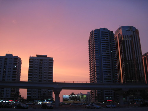 Pink Dubai Sunset