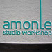 Amonle Letterpress Logo Closeup