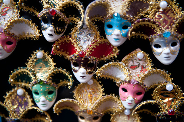 A sea of masks
