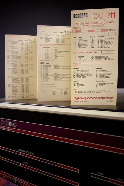 PDP-11 programming card