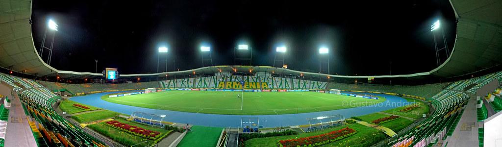 Imagen Panorámica del Estadio Centenario de Armenia