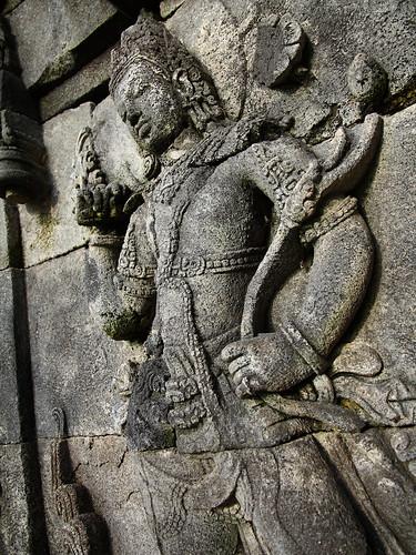 Carving at Plaosan Lor