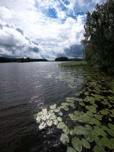 sky lake water view wideangle hdr yellowwaterlily sastamala rautavesi photoengine panasonicgvario714mmf4asph panasoniclumixgh2