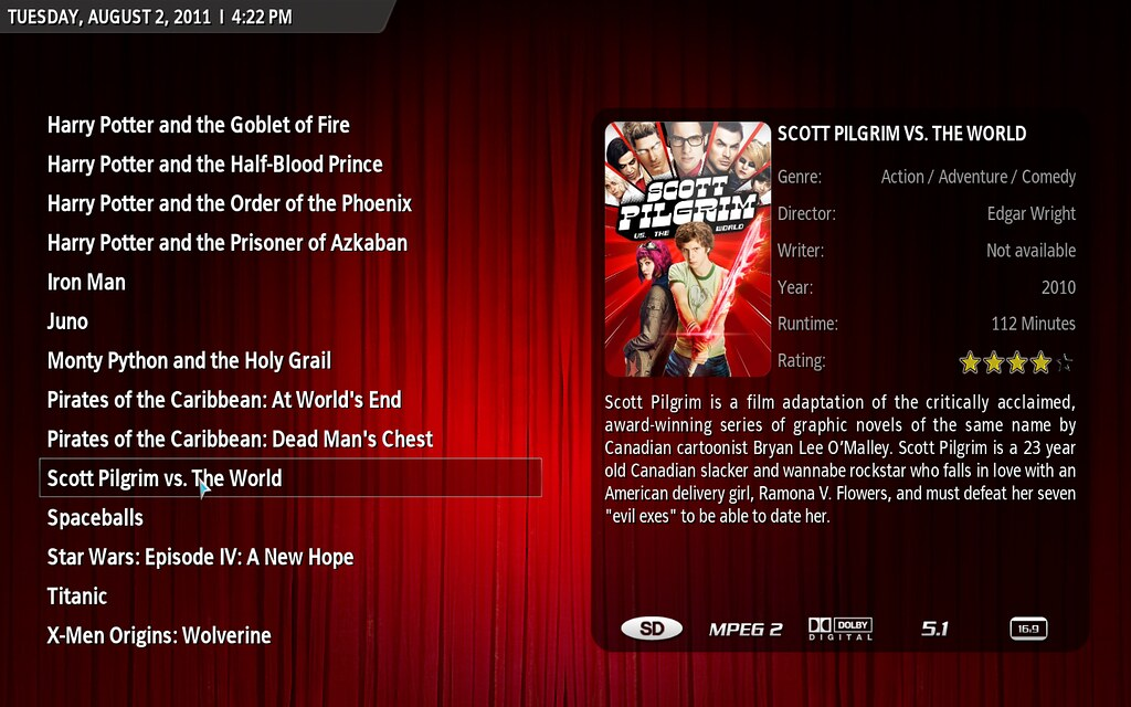 XBMC Homescreen | This is what my TV screen will look like w… | Flickr