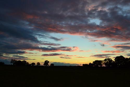 sunset summer suffolk